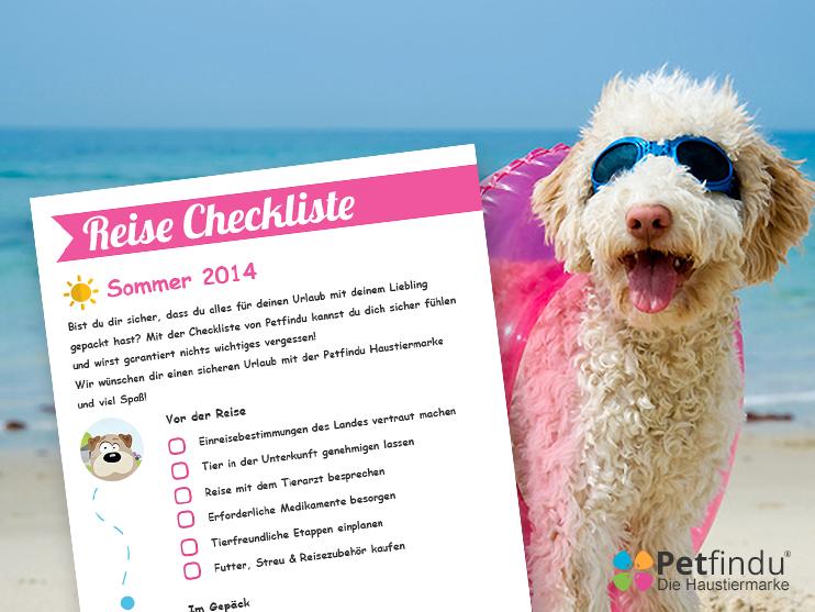 Checkliste Urlaub mit Hund von Petfindu QR-Code Hundemarke